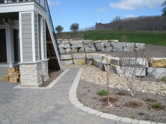 Landscaping With Limestone Blocks : Paver patios allen landscapes rochester mn