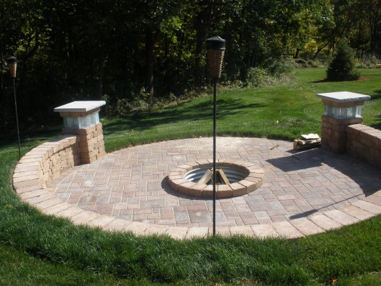 Paver Circle/ Pillar Lights Photo