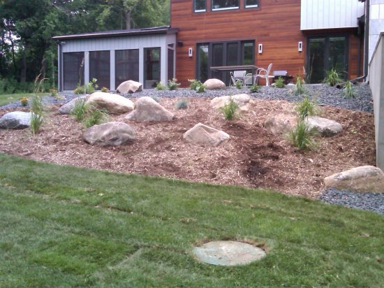 Landscaping Boulders Mn : Landscape boulder outcropping rochester mn landscaping allen